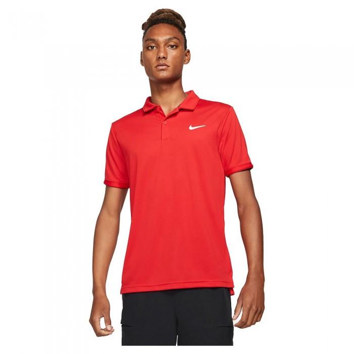 [해외]나이키 Court Dri Fit Victory Short Sleeve Polo Shirt 12137983038 University Red / White