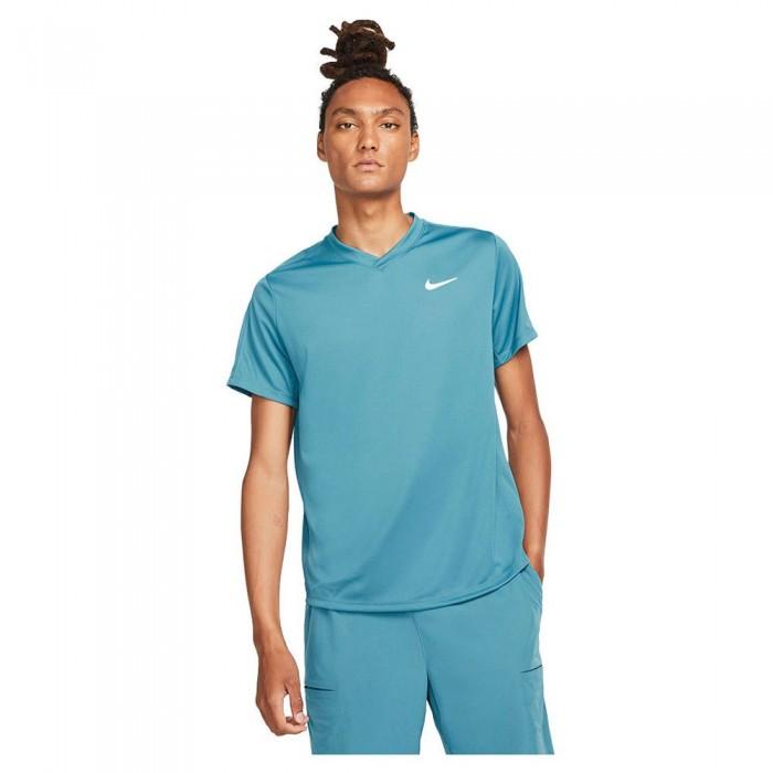 [해외]나이키 Court Dri Fit Victory Short Sleeve T-Shirt 12138297804 Riftblue / Riftblue / White