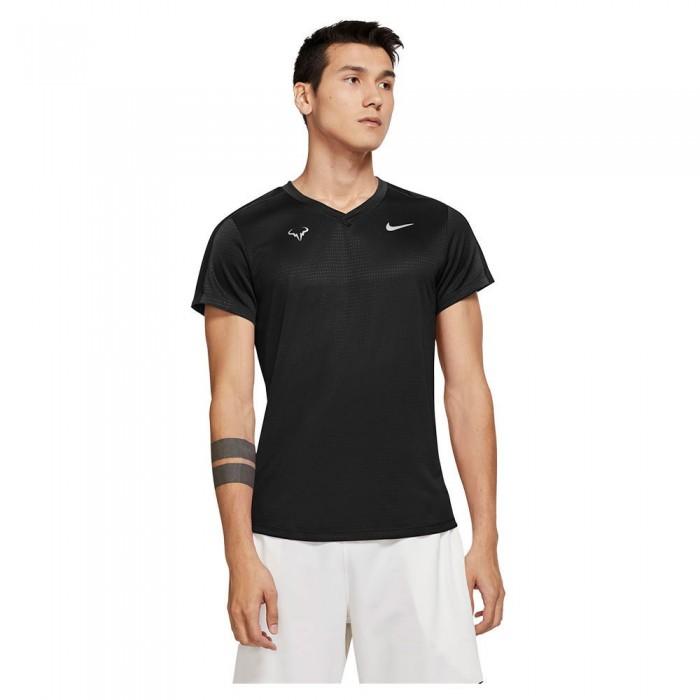 [해외]나이키 Court Rafa Challenger Short Sleeve T-Shirt 12138297806 Black / White
