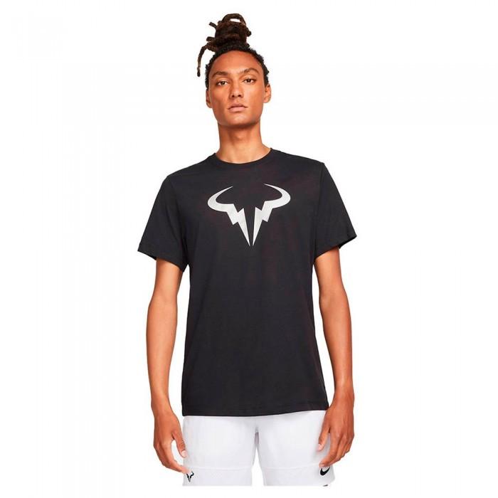 [해외]나이키 Court Dri Fit Rafa Short Sleeve T-Shirt 12138345764 Black / Metallic Silver