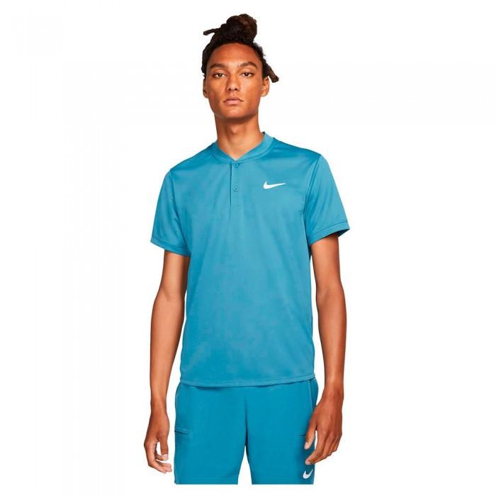[해외]나이키 Court Dri Fit Short Sleeve Polo 12138345765 Riftblue / White