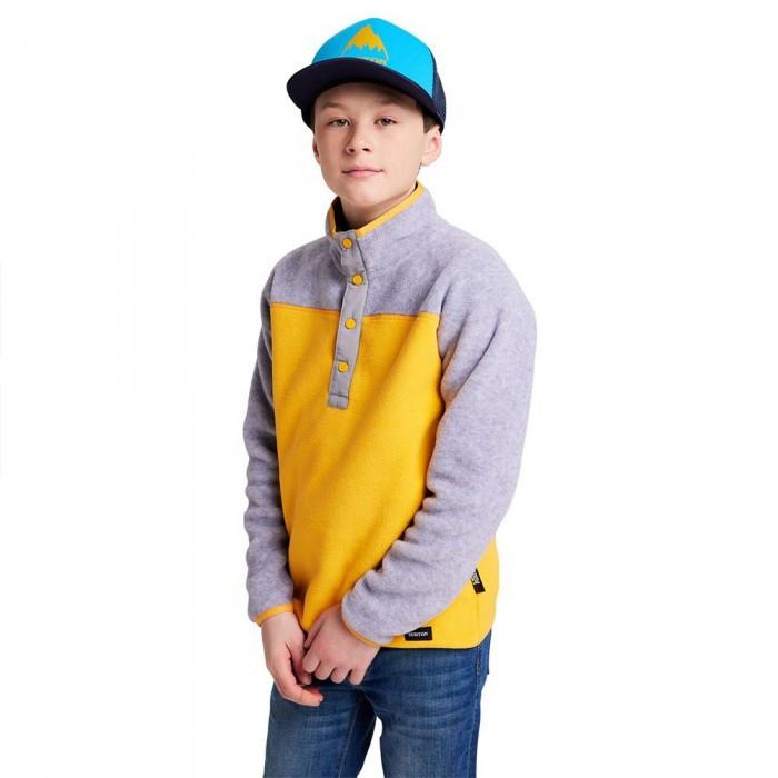 [해외]버튼 Spark Sweatshirt Youth 5138272961 Grey Heather / Cadmium Yellow