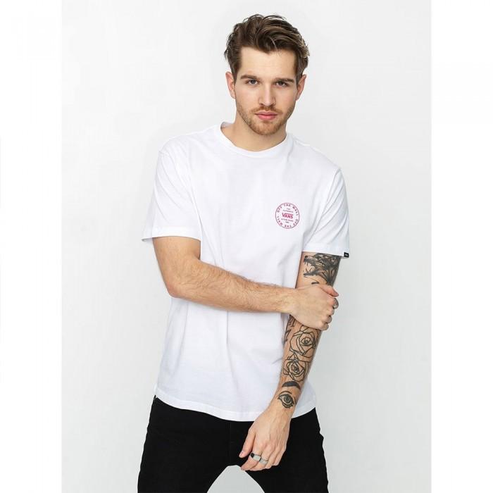 [해외]반스 Old 스쿨 Circle Logo Short Sleeve T-Shirt White