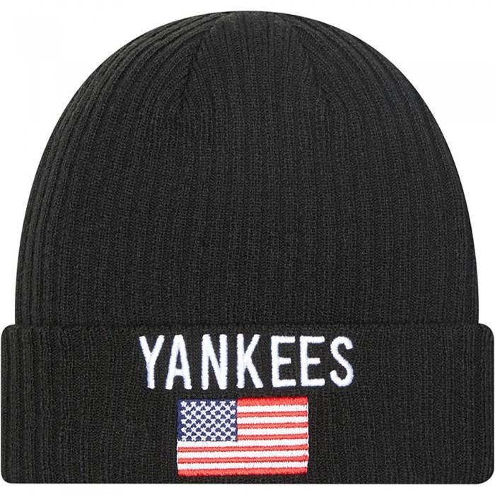 [해외]뉴에라 Team Flag Cuff Beanie Black