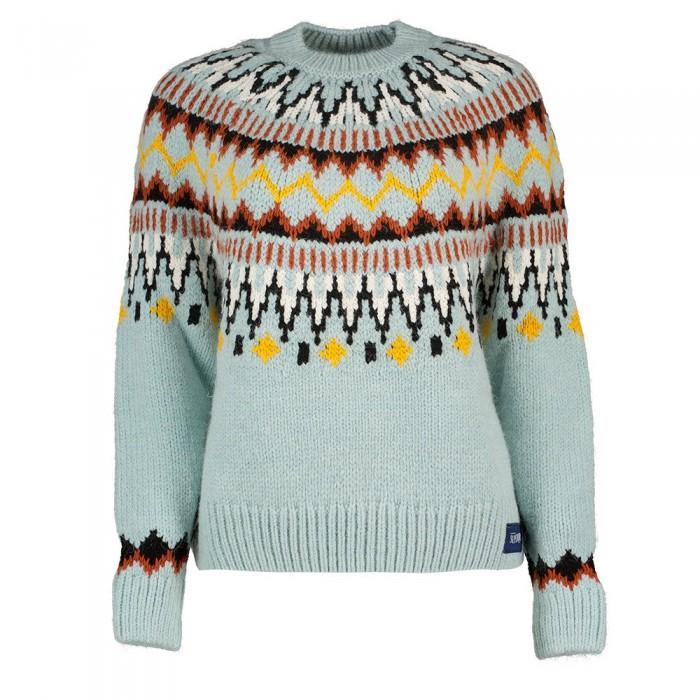 [해외]슈퍼드라이 Classic Fairisle Crew Sweater Soft Blue Fairisle
