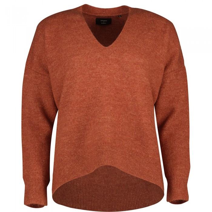 [해외]슈퍼드라이 Studios Slouch Vee Knit Sweater Burnt Brick