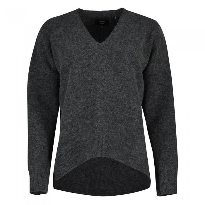 [해외]슈퍼드라이 Studios Slouch Vee Knit Sweater Tar Marl