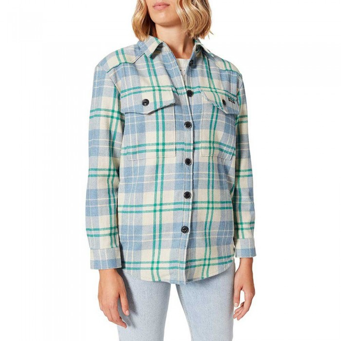 [해외]슈퍼드라이 Check Long Sleeve Shirt Green Check