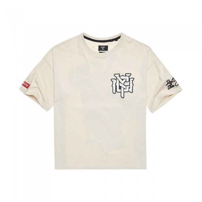 [해외]슈퍼드라이 Crossing Lines Short Sleeve T-Shirt Light Stone