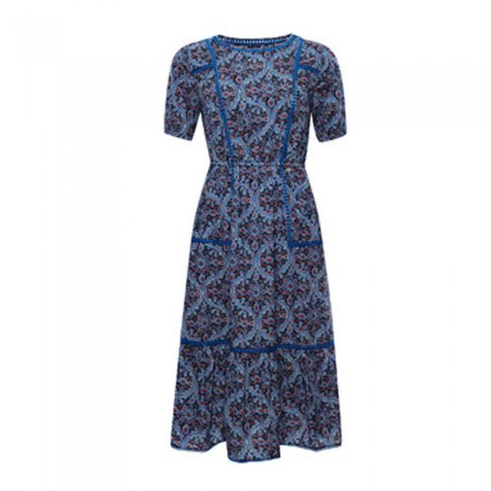[해외]슈퍼드라이 Bohemian Midi Dress ?Navy Print