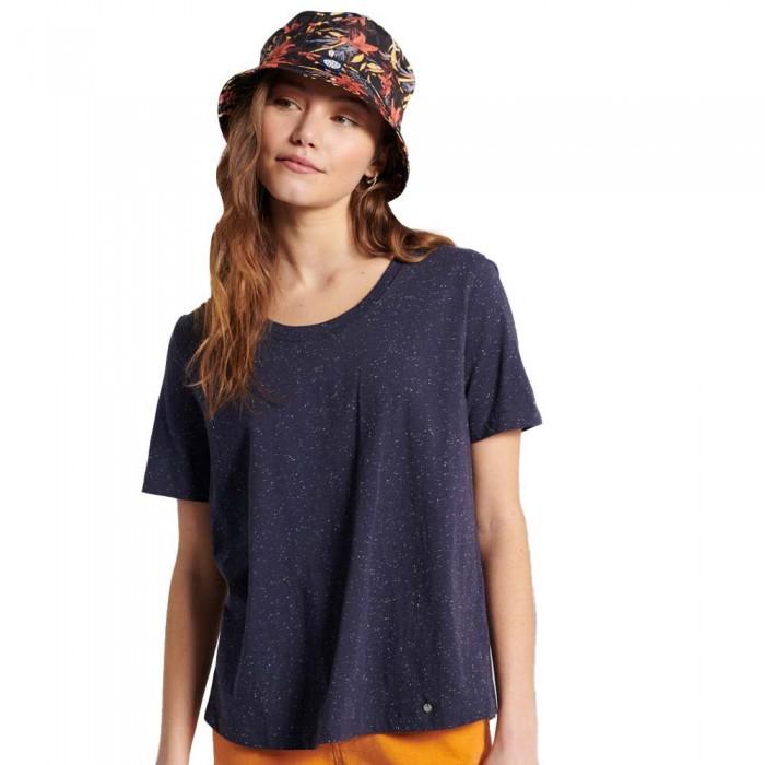 [해외]슈퍼드라이 Embroidered Back Short Sleeve T-Shirt Nautical Navy