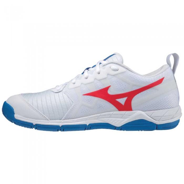[해외]미즈노 Wave Supersonic 2 Shoes 3138140626 White / Red / French Harbor Blue