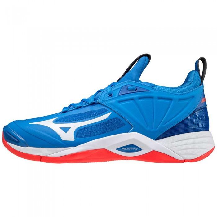 [해외]미즈노 Wave Momentum 2 Shoes 3138140629 French Harbor Blue / White / Red