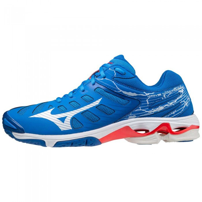 [해외]미즈노 Wave Voltage Shoes 3138140632 French Harbor Blue / White / Red