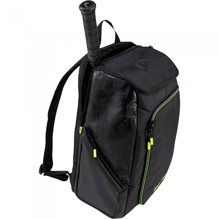 [해외]헤드 RACKET Extreme Nite Backpack 12138360605 Black / Neon Yellow