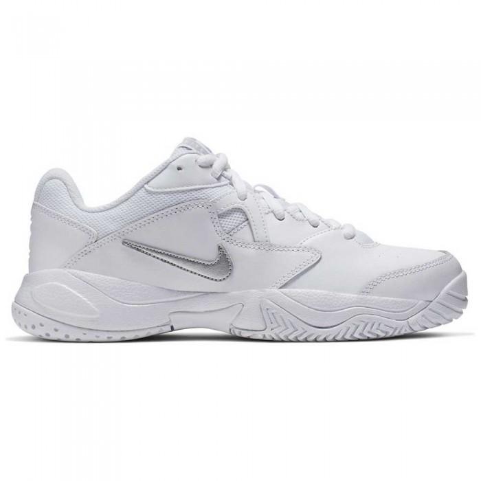 [해외]나이키 Court Lite 2 Hard Court Shoes 12137290692 White / Metallic Silver / White