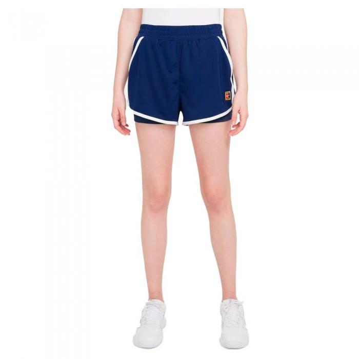 [해외]나이키 Court Dri Fit Slam Shorts 12138251236 Binary Blue / Binary Blue / White