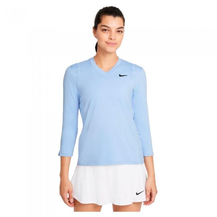 [해외]나이키 Court Dri Fit UV Victory 3/4 Sleeve T-Shirt 12138251246 Aluminum / Black