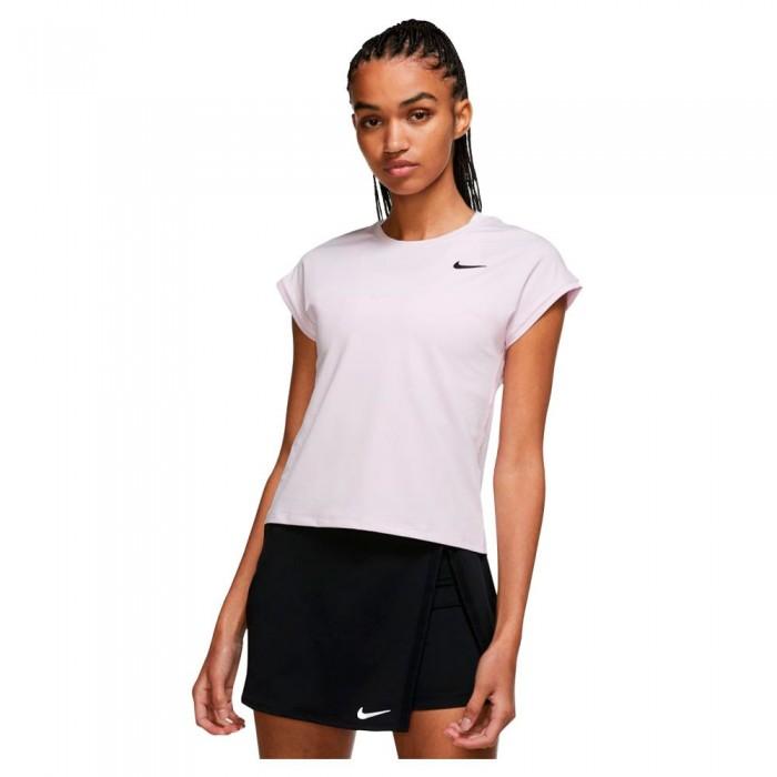 [해외]나이키 Court Dri Fit Victory Short Sleeve T-Shirt 12138251274 Regal Pink / Black