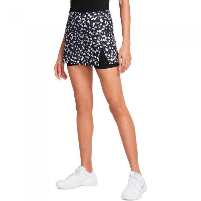 [해외]나이키 Court Dri Fit Victory Skirt 12138251291 Black / Black / White