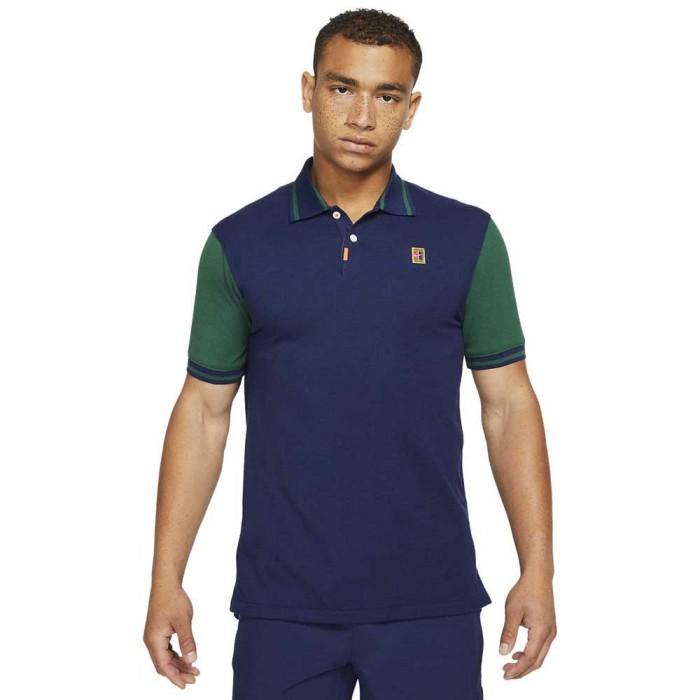 [해외]나이키 The Slim Fit Short Sleeve Polo 12138254568 Binary Blue / Gorge Green