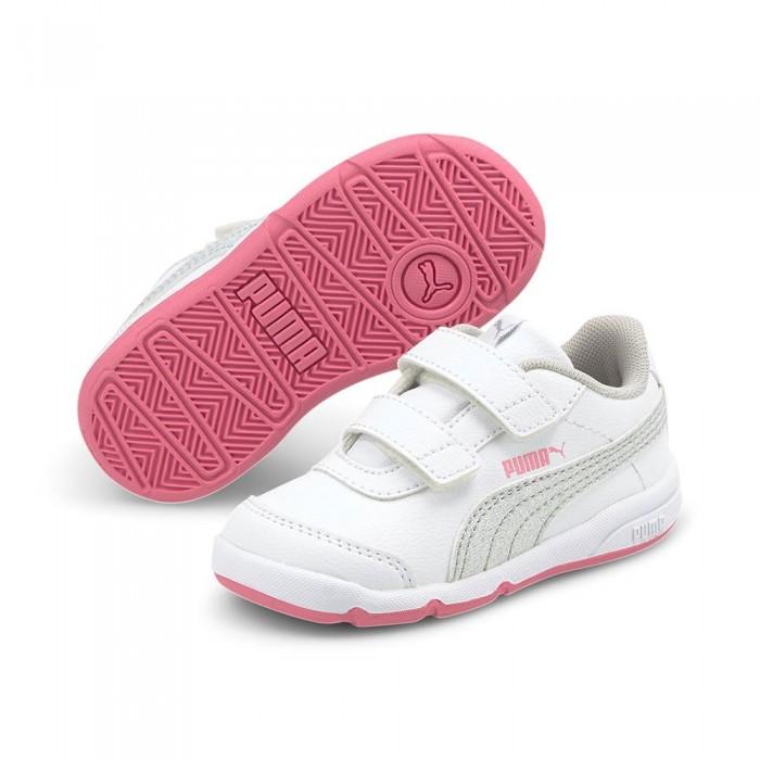 [해외]푸마 Stepfleex 2 SL VE Glitz FS Velcro Infant Trainers 15137919717 Puma White / Puma Silver / Sachet Pink