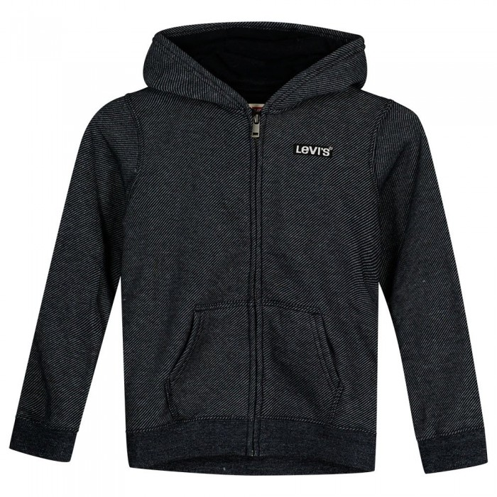 [해외]리바이스 ? KIDS Textured Full Zip Sweatshirt 15138145713 Black