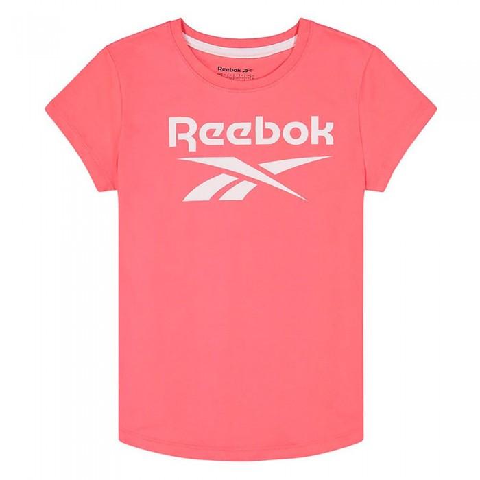 [해외]리복 Lock Up Short Sleeve T-Shirt 15138155536 Sunkist Coral