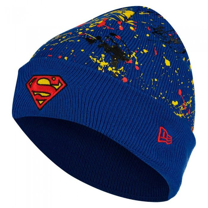 [해외]뉴에라 Cuff Knit Superman Youth Beanie 15138233114 Dark Red