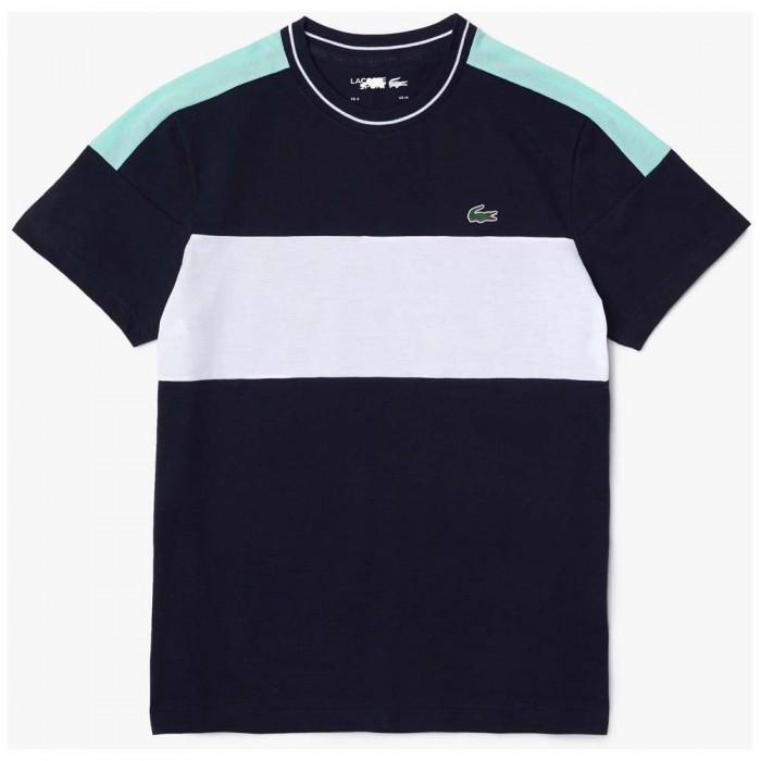 [해외]라코스테 Sport TH6940 Boy T-shirt 15138259686 Marine / White-Spirulina-Bl