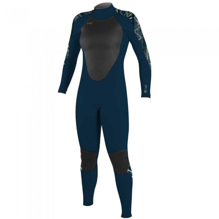 [해외]오닐 웻슈트 Girl Epic 4/3 mm Long Sleeve Wetsuit 14138264825 Shade / Shade / Bungalow Stripe
