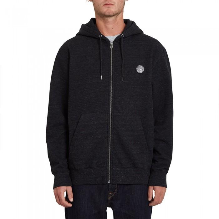 [해외]볼컴 Single Stone Full Zip Sweatshirt 14138162396 Heather Black