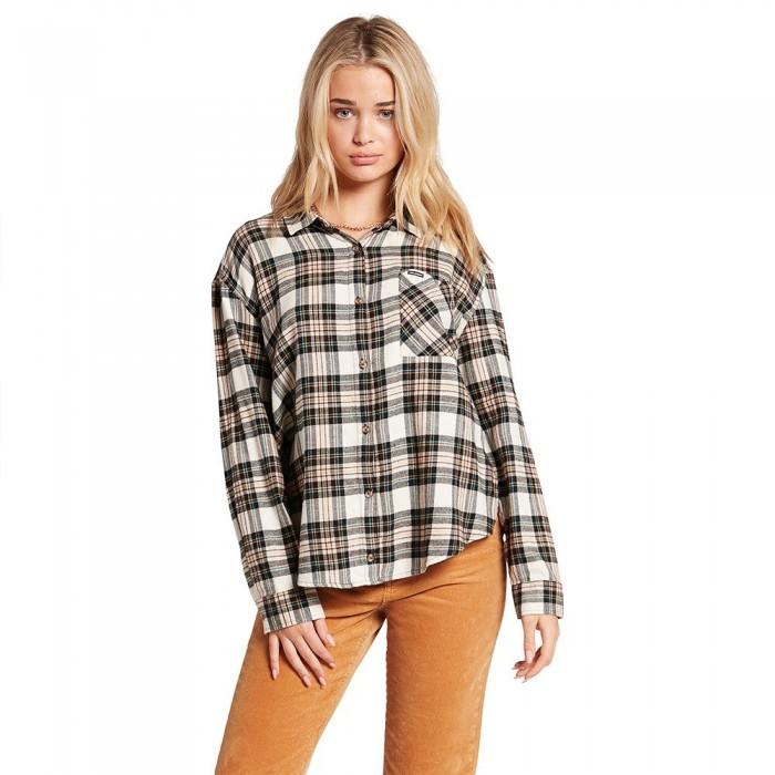 [해외]볼컴 Plaid To Meet U Long Sleeve T-Shirt 14138162442 Mushroom