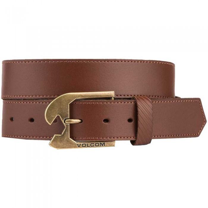 [해외]볼컴 Skully Leather Belt 14138162578 Brown