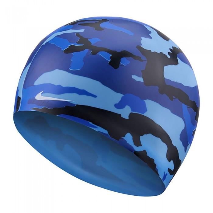 [해외]나이키 SWIM Camo Swimming Cap 6137424141 Obsidian