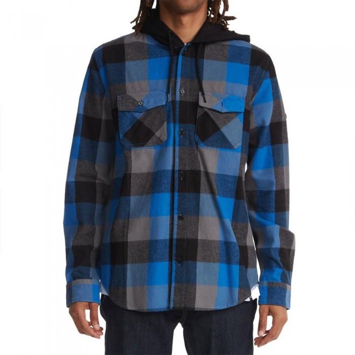 [해외]DC슈즈 Ruckus Hooded Flannel Long Sleeve Shirt 14138152695 Turkish Sea Check