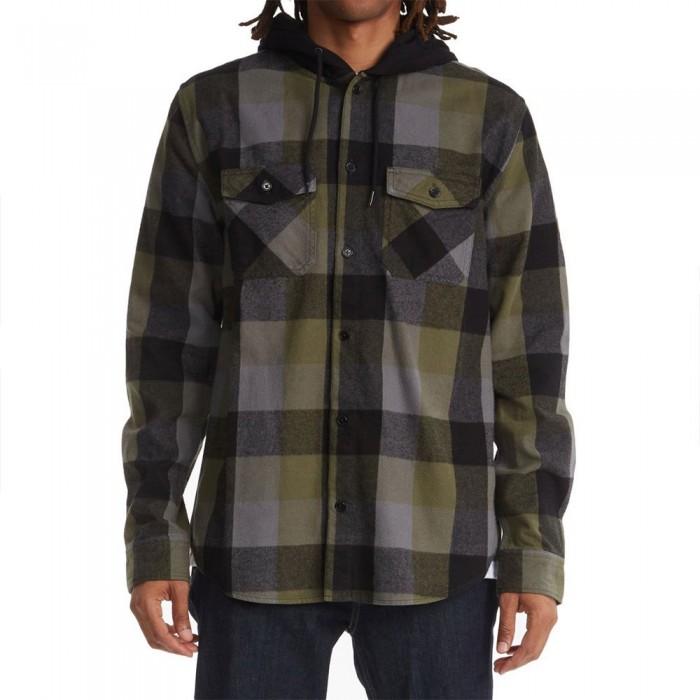 [해외]DC슈즈 Ruckus Hooded Flannel Long Sleeve Shirt 14138152697 Ivy Green Check