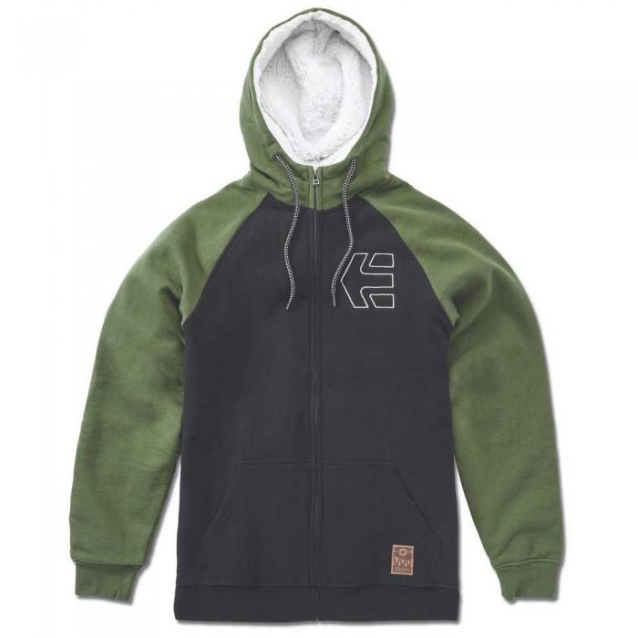 [해외]에트니스 Parlay Sherpa Hoodie Half Zip Hoodie 14138166077 Black / Olive