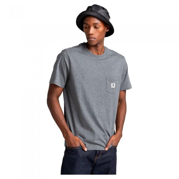 [해외]엘레먼트 Basic Pocket Label Short Sleeve T-Shirt 14138296333 Charcoal Heathe