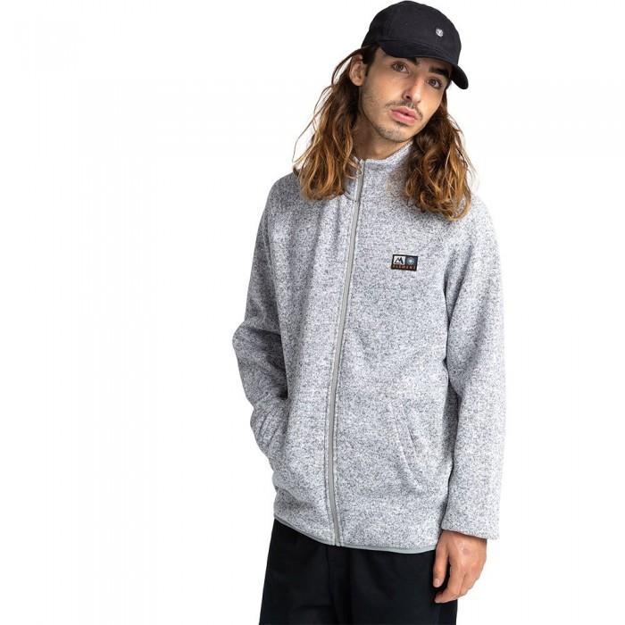 [해외]엘레먼트 Mydland Mock Full Zip Sweatshirt 14138296978 Charcoal Heathe