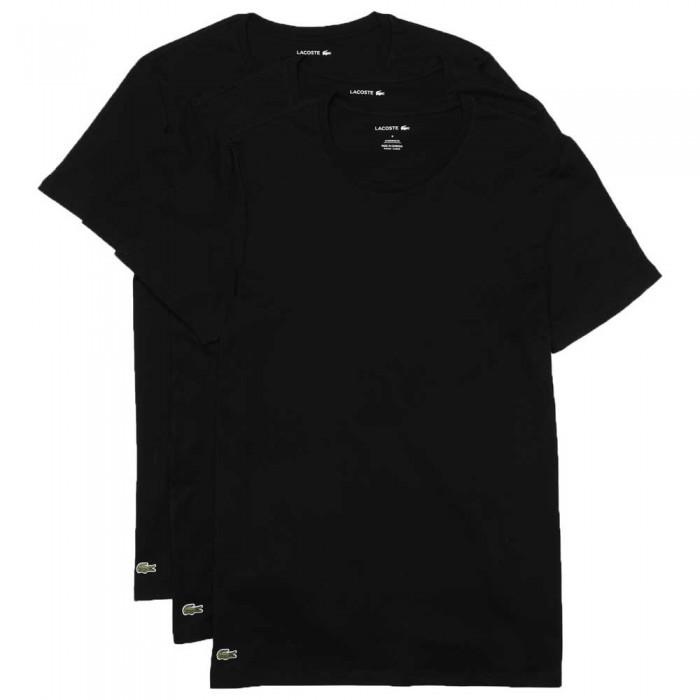 [해외]라코스테 Short Sleeve Base Layer 3 Units 5138094446 Black