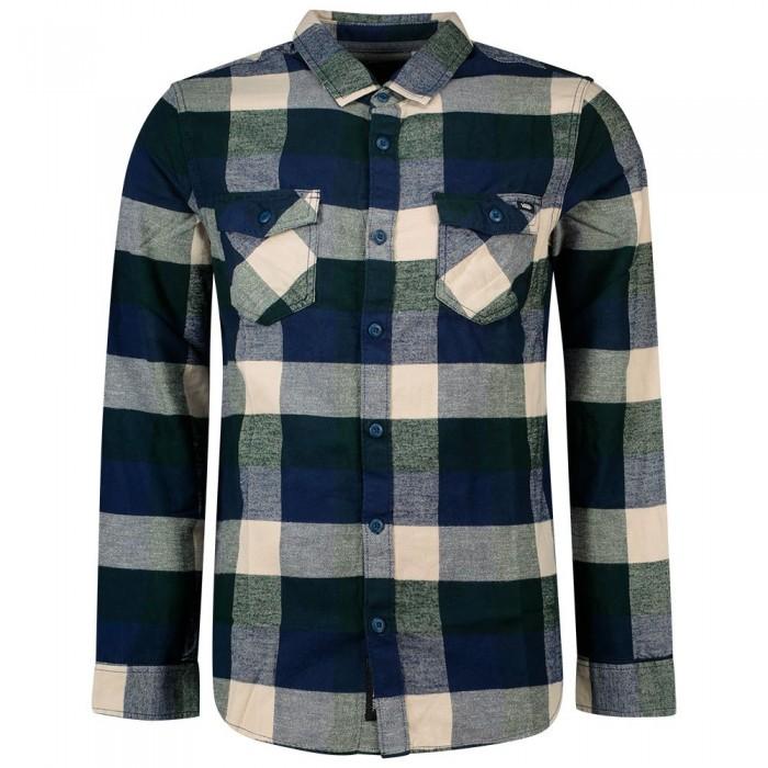[해외]반스 Box Flannel Long Sleeve Shirt Dress Blues / Scarab