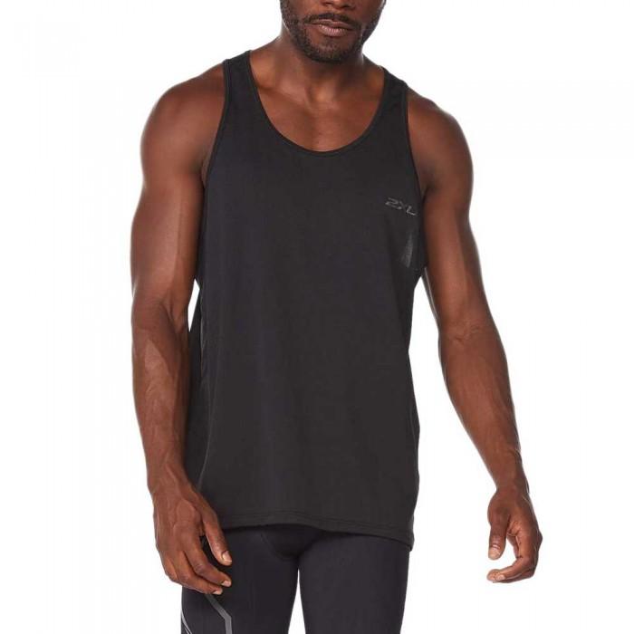 [해외]2XU Light Speed Tech Sleeveless T-Shirt 6138230909 Black / Black Reflective