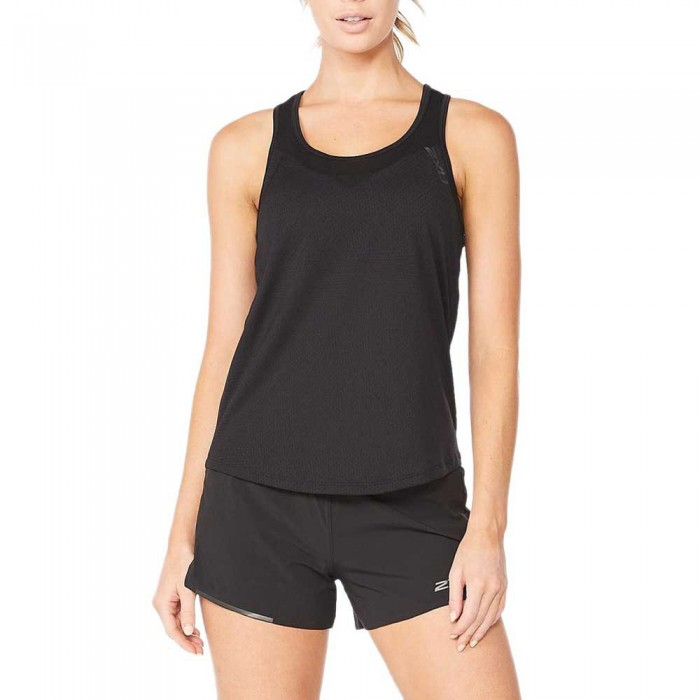 [해외]2XU Light Speed Tech Sleeveless T-Shirt 6138230908 Black / Black Reflective