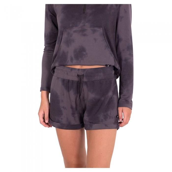 [해외]헐리 Cozy Rolled Hem Shorts 14138238376 Vintage Black Deamy Tie Dye