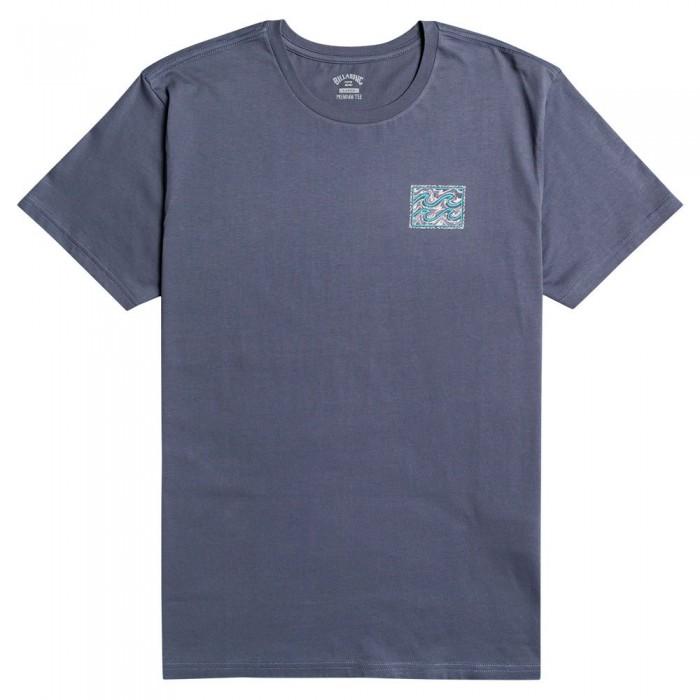 [해외]빌라봉 Crayon Wave Short Sleeve T-Shirt 14138285818 Slate Blue