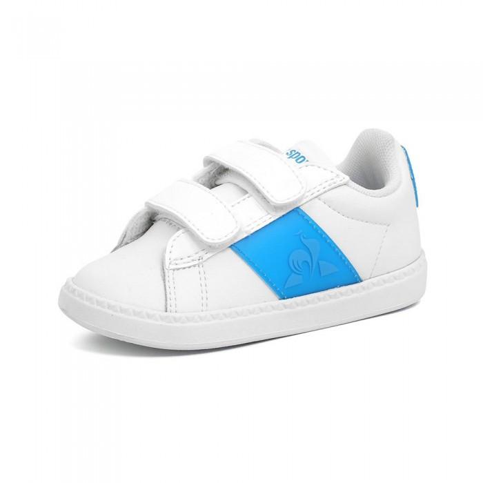 [해외]르꼬끄 Court Classic Neon Infant Trainers 15137890991 Optical White / Atomic Blue