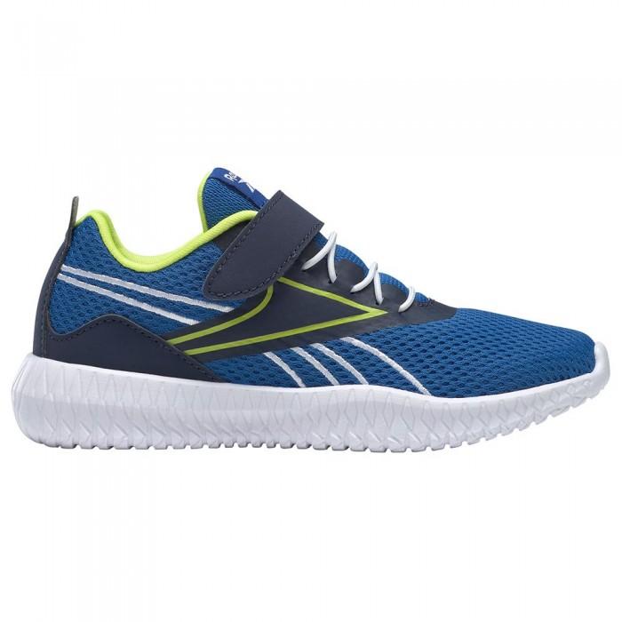 [해외]리복 Flexagon Energy Velcro Trainers Kid 15138117605 Vector Blue / Vector Navy / Acid Yellow