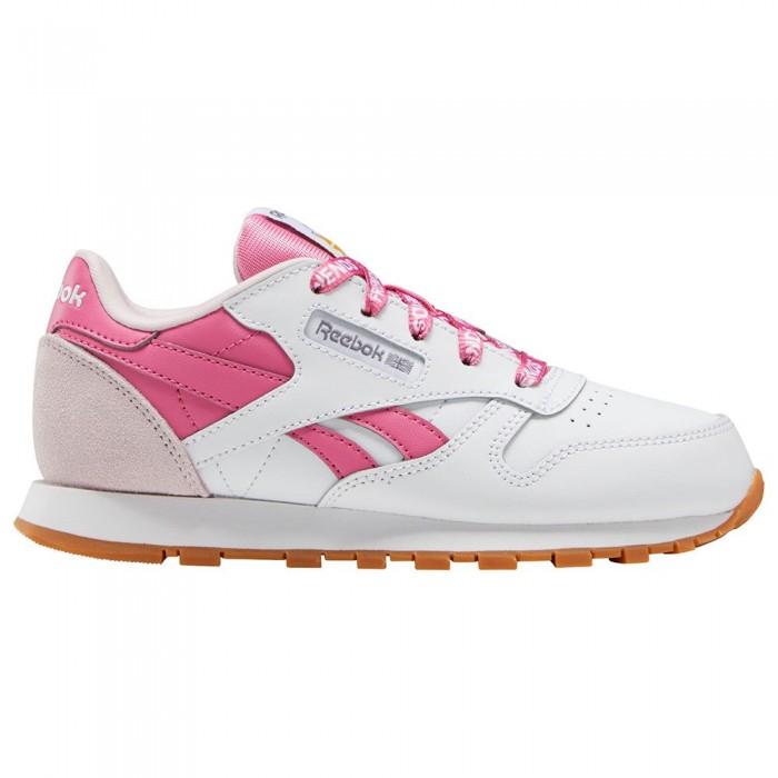 [해외]리복 CLASSICS Leather Trainers 15138119310 Ftwr White / Frost Berry / True Pink