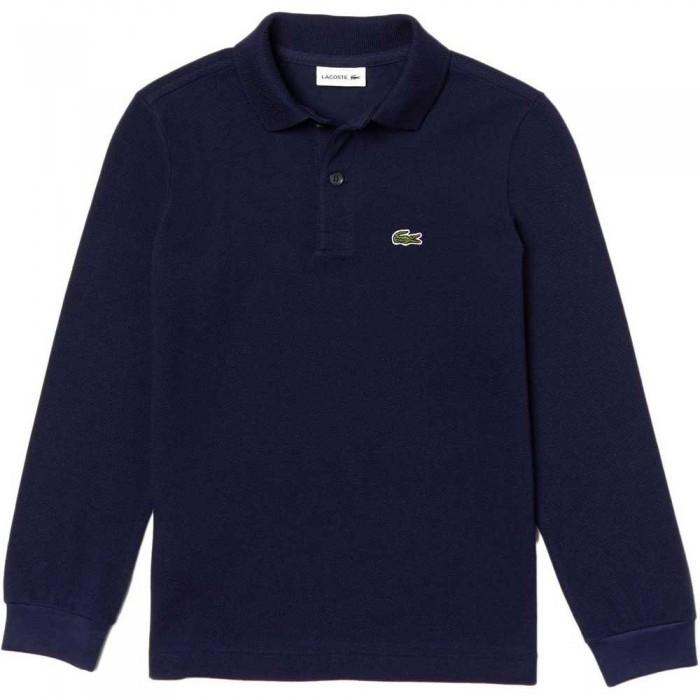 [해외]라코스테 Petit Piqu? Long Sleeve Polo Shirt 15137336560 Navy